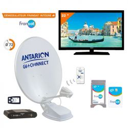 Pack satellite ANTARION complet avec TV LED 50 cm et antenne G6+ Connect 72 cm