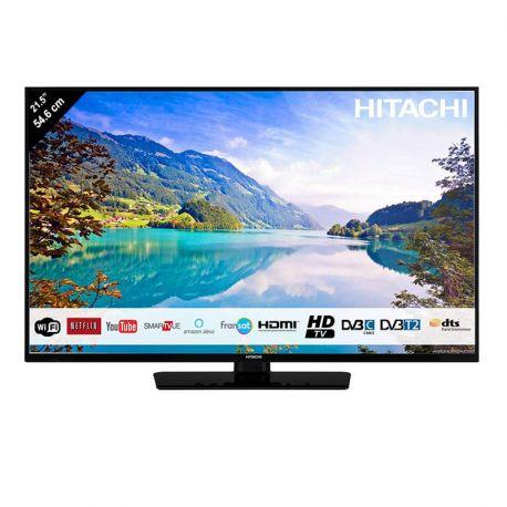 Téléviseur LED 55 cm avec récepteur satellite intégré -SMARTVUE - WIFI