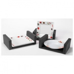 LOT DE 3 MOUSSES RANGE ASSIETTES