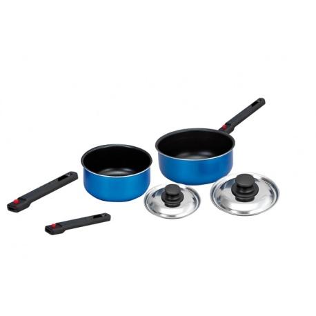 Set de casseroles poignées détachables