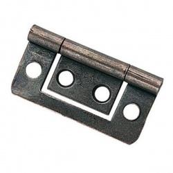 Charnières plate porte - zingué acier