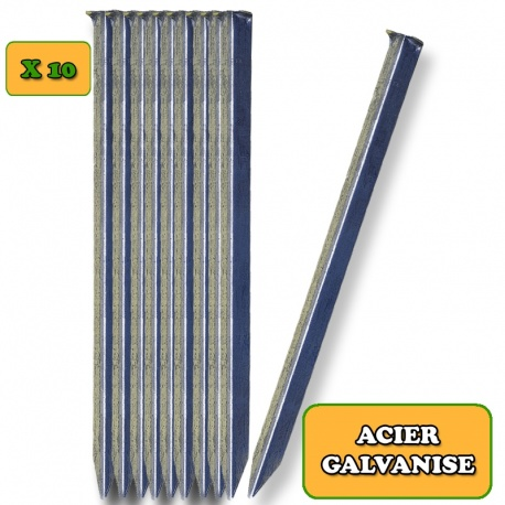 Piquet cornière acier galvanisé L23 cm