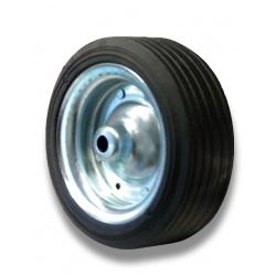 Roue seule de roue jockey 160x 40 x 20 mm jante acier