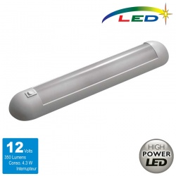 Réglette Leds 12 Volts 350 lumens Blanche
