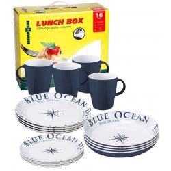 Set vaisselle 16 Pièces ANTI GLISSE BLUE OCEAN