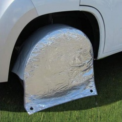 Protection isotherme pour roue de camping car