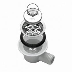 Bonde siphon coudée SMEV tuyau 20 mm