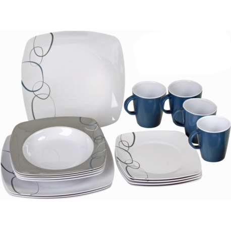 Kit vaisselle melamine 16 pieces CASCADE BRUNNER