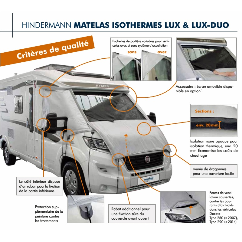 volet isolation lux duo hindermann fiat ducato 250 290 de 2014 2017 leader loisirs. Black Bedroom Furniture Sets. Home Design Ideas