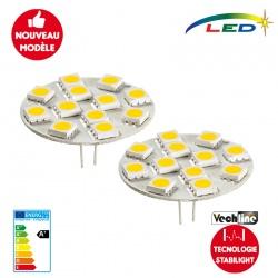 Lot de 2 ampoules LED G4 arrière 200 Lumens STABILIGHT