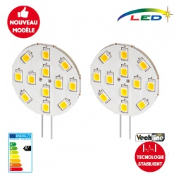 Lot de 2 ampoules LED G4 latérale 200 Lumens STABILIGHT