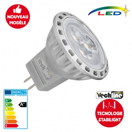 Ampoule LED G4 - MR11 220 lumens STABILIGHT