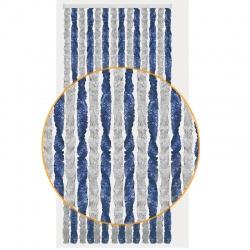Rideau chenille 185 x 56 cm Gris / Bleu pour camping-car et caravane