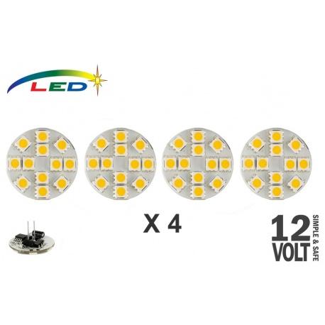 Lot de 4 ampoules 12 Leds 200 Lumens - arrière