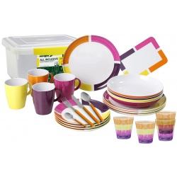 Set vaisselle 36 pièces ALL INCLUSIVE COSMIC