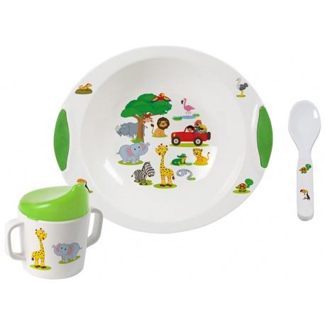 Kit vaisselle enfants Jungle Bébé 6 mois et plus