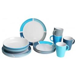 Set vaisselle mélamine 16 pièces AQUARIUS