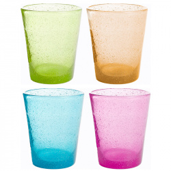Lot de 4 verres MS Multicolor 30 cl