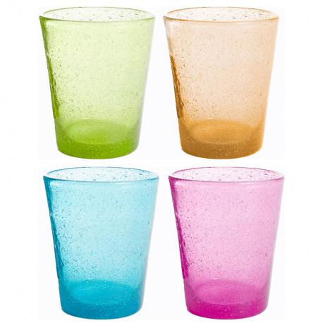 Lot de 4 verres MS Multicolor 30 cl