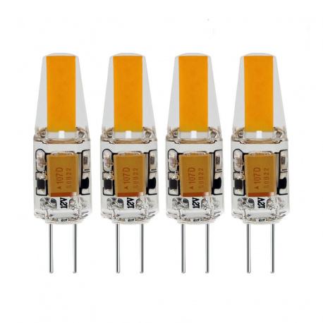 Lot de 4 ampoules Led Silicone G4 200 Lumens