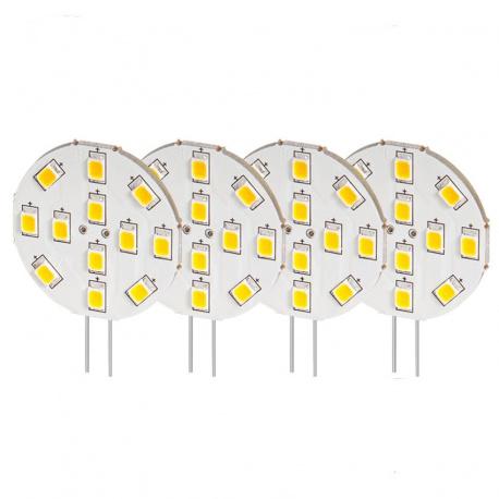 Lot de 4 ampoules LED G4 latérale 200 Lumens STABILIGHT