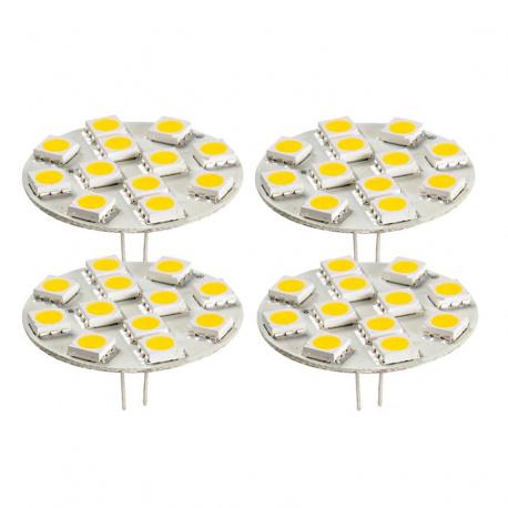 Lot de 4 ampoules LED G4 arrière 200 Lumens STABILIGHT