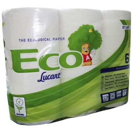 Pack de 12 rouleaux papier toilette ECO LABEL