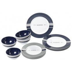 Kit vaisselle 12 Pcs Blue Océan