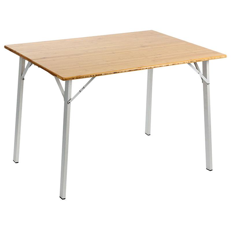 Table de camping avec plateau en bambou id al pour la camping - Table camping pliante avec siege ...