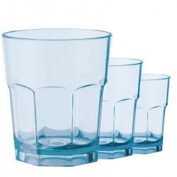 Lot de 3 verres SAN Octogonal 25 centilitres