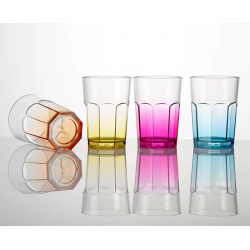 Set de 4 verres San 28 cl antidérapant OCTOGLASS COLOR