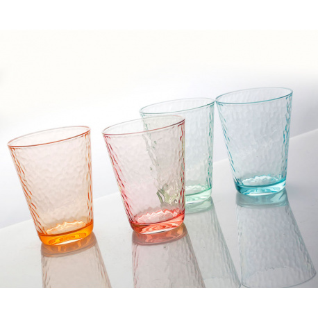 SET DE 4 VERRES VINTAGE - COLORIS ASSORTI