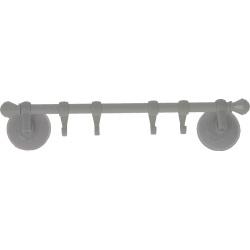 Support avec crochets 32 cm à ventouses