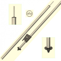 Pied telescopique pour auvent 165-250 cm Aluminium - Embout pointe