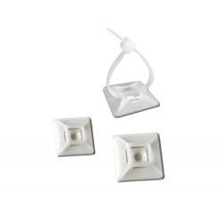 Embase pour serre-câbles nylon blanc