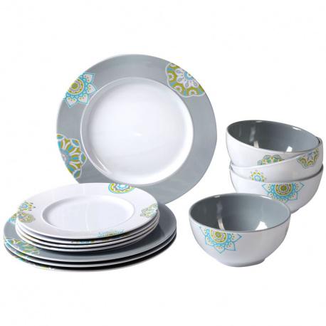 Kit vaisselle mélamine16 pièces antidérapant SANDHYA By BRUNNER
