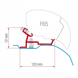 Adaptateur F65S Fiat après 2006 super long