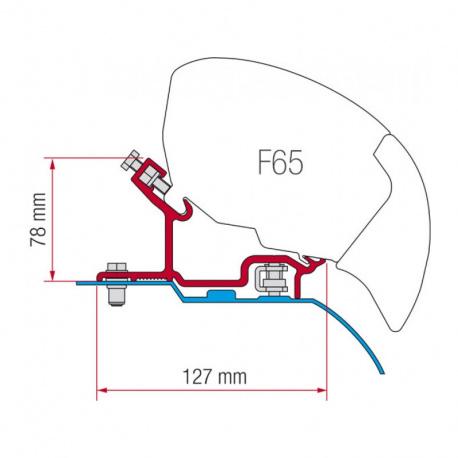 Adaptateur Store FIAMMA F65 S pour FIAt Ducato depuis Juin 2006 H3