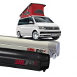 F45 S 260 - Toile Royal Grey - Boitier Deep black - VW T5/T6 California - Empattement 3000 mm