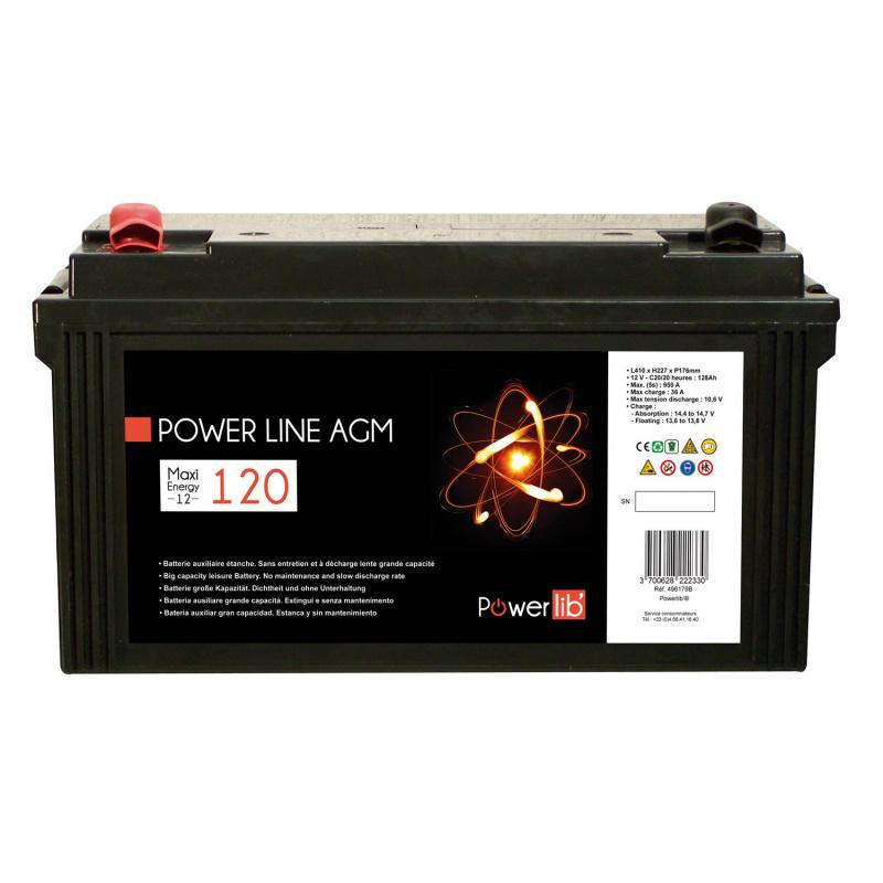 batterie cellule stationnaire power line agm 120 ah d charge 100. Black Bedroom Furniture Sets. Home Design Ideas