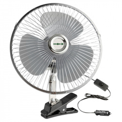 Ventilateur oscillant 12 Volts fixation à pince