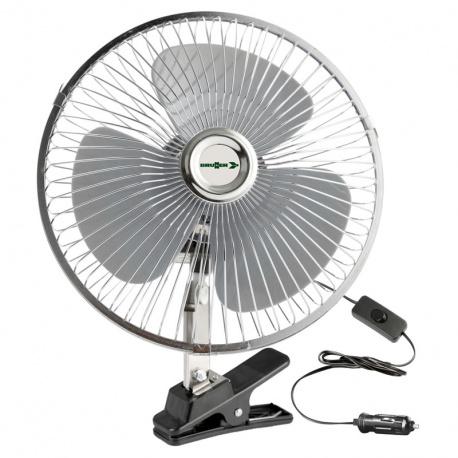 Ventilateur oscillant 12 Volts fixation à pince