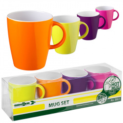 Lot de 4 mugs 30 cl coloris SPECTRUM