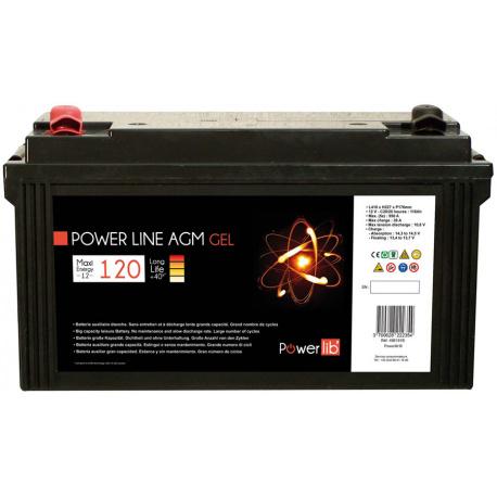Batterie Camping car Power Line GEL 120 A/h