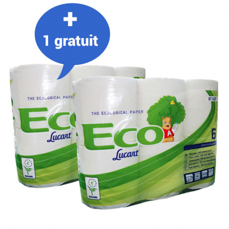 Pack de 12 rouleaux papier toilette ECO LABEL