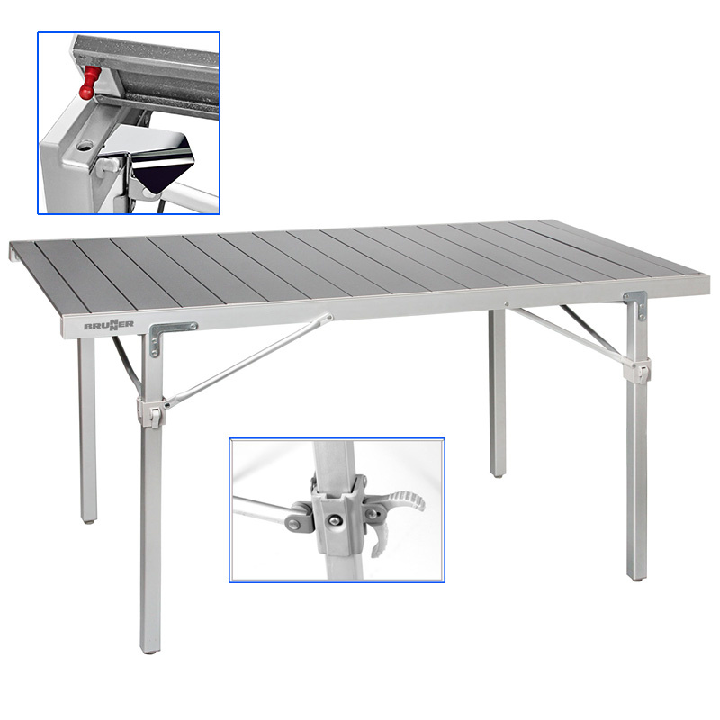 Table Titanium Quadra 6 Personnes Of Quadra Titanium Par Brunner Table Tout Aluminium Pliable