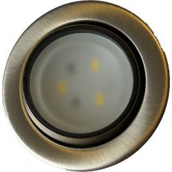 Spot LED 12V Acier chromé encastrable