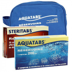 Lot AQUATABS 6400 L et STERITABS