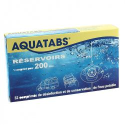 AQUATABS pour réservoir de 100 à 200 litres - 16 comprimés sécables