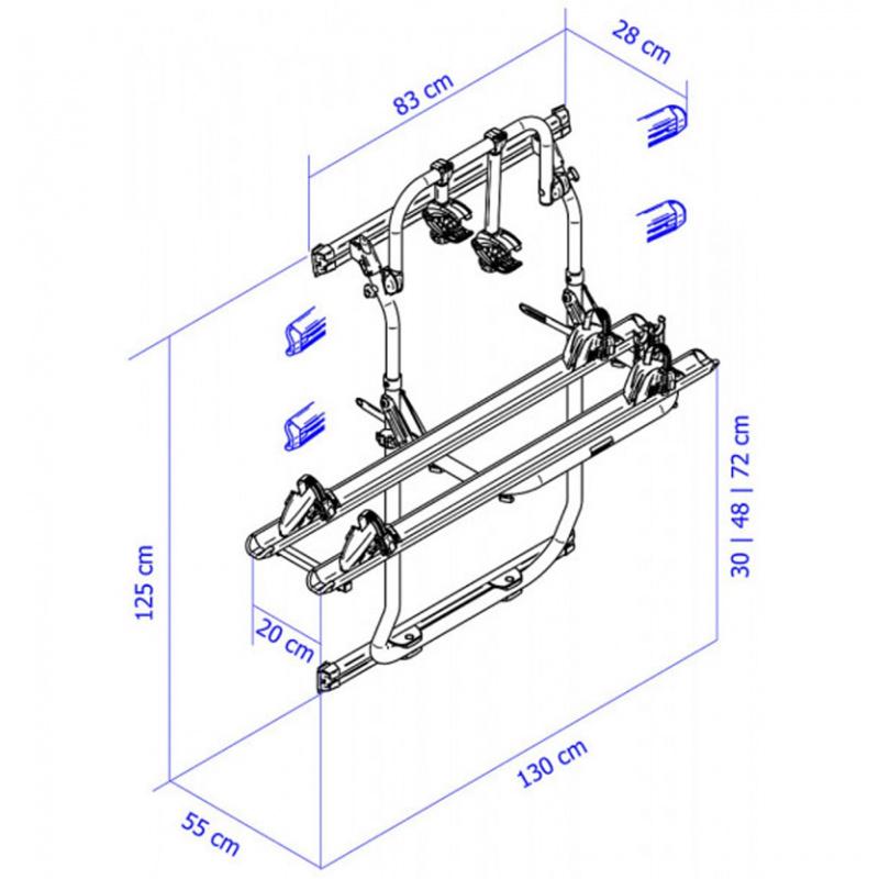 THULE Elite Van XT la référence des portes vélos pour le fourgon FIAT